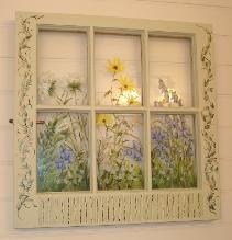 Painted Vintage Windows