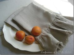 Tutorial for making knock off linen napkins