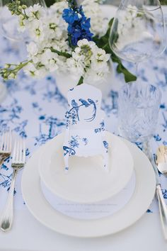Amazing white and blue wedding ideas