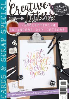 Ga aan de slag met de Cards & Scrap special - Creative Letters. Je vindt uitleg, inspiratie en doe-ideeën over het creatief verwerken van tekst.