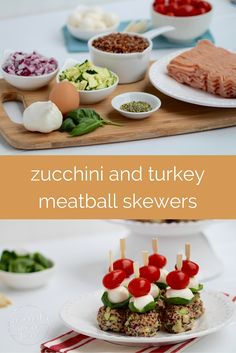 party pleasing, caprese, turkey meatball skewers — easy, healthy, hearty, big on flavor, protein-packed, and sure to be a real crowd-pleaser.