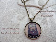 Collana amuleto di minion XL uomo di ferro di Scrollbeads su Etsy