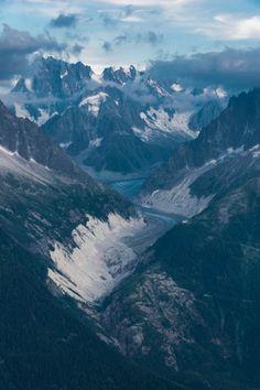 tulipnight: Glacial valley - Chamonix-Mont-Blanc by Michael Jensovsky