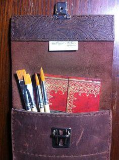 Handmade Slimline leather pencil case £19.49
