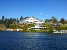 28,500 sq ft mansion along the Spokane River, Couer d'Alene, Idaho. Built by an Amway executive primarily to illustrate what Amway strivers could achieve it has 13 bedrooms and 13 bathrooms. ~~ 9/8/2013