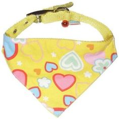 Custom Made Yellow Cute Loving Heart Printing with Small Bell Adjustable Dog Cat Pet Triangle Bandana on Made-in-China.com