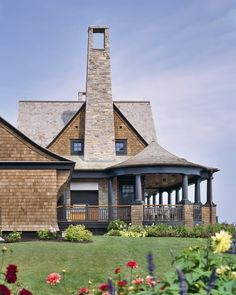 Tour a Stunning Coastal Home in Rhode Island - House Tours Shingle Style Architecture, Shingle Style Homes, Residential Architecture, Amazing Architecture, Architecture Details, Country House Plans, Country Houses, Coastal Homes, Old Houses