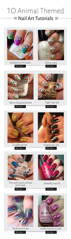 Here we are sharing 50 such amazing nail arts which are inspired by animals.
