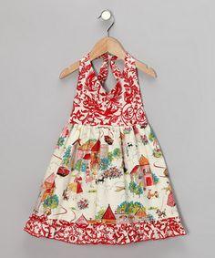 Red Cottage Day Halter Dress