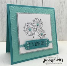 Stamping Moments: Stampin' UP! Dandlelion Wishes Handmade Birthday Cards, Happy Birthday Cards, Greeting Cards Handmade, Karten Diy, Dandelion Wish, Up Book, Square Card, Stamping Up Cards, Abstract Photography