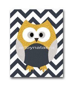 Owl Wall Decor Owl Wall Art Kids Wall Art Baby Boy Nursery Wall Decor Baby Nursery Print Childrens Art Print Baby Wall Decor 8x10 Gray Navy by artbynataera on Etsy