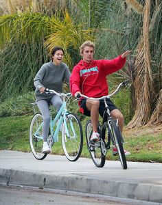 Selena Gomez and Ex Justin Bieber Spotted on a Bike Ride