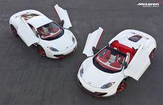 Un par de 12Cs de la famosa colección Project 8 están a la venta exclusivamente en McLaren Newport Beach. Tanto el McLaren 12C Coupe 2012 y el McLaren 12C Spider 2013 fueron personalizados por McLaren Special Operations (MSO) y se venden juntos como un paquete.