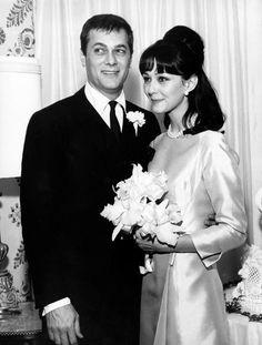 Tony Curtis and Christine Kaufmann wedding Feb. 1963