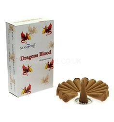 Stamford Dragons Blood Incense Cones:  15 Cones per Pack Made in India A great scent by Stamford Use creating the perfect mood Packaging is recyclable