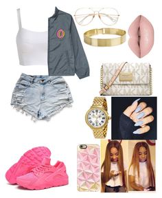 """""""My BabyIvon"""" by differentbreed ❤ liked on Polyvore featuring beauty, ODD FUTURE, NIKE, Casetify, Michele and Michael Kors"""