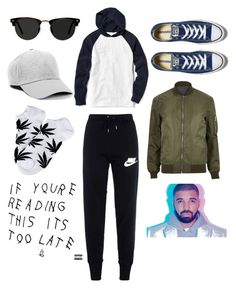 """""""60 sec style"""" by nimotalai ❤ liked on Polyvore featuring Converse, Too Late, NIKE, Old Navy, River Island, Ace, Topman, HUF, men's fashion and menswear"""