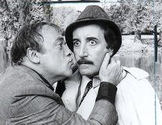 peter sellers as inspector clouseau and Herbert Lom as his boss