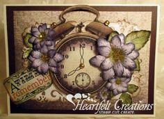 Heartfelt Creations | Floral Clock