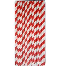 Papierstrohhalme, rot/weiße Streifen, 25 Trinkhalme aus Papier |MeinCupcake.de - Ihr Onlineshop