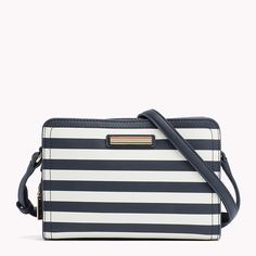Tommy Hilfiger Saffiano Striped Crossover - midnight / whisper white stripe (Blue) - Tommy Hilfiger Crossover Bags - detail image 0