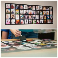 DIY Big Bang for Your Buck Wall Art: All you'll need are: black foam core, photo prints and Mod Podge! Photo Wall Collage, Picture Wall, Picture Collages, Picture Ideas, Photo Projects, Diy Projects, Home Crafts, Crafts For Kids, Art Nouveau