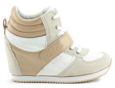sneakersy calvin klein jeans re9264viridiana ck logo white/natural Calvin Klein Jeans, Wedges, Logo, Natural, Sneakers, Model, Shoes, Fashion, Tennis
