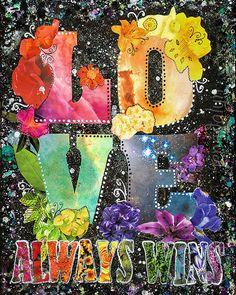Love Always Wins fine art print love wins rainbow by Jenndalyn