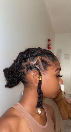 Short Locs Hairstyles, African Natural Hairstyles, Baddie Hairstyles, Cute Hairstyles, Dyed Natural Hair, Natural Hair Tips, Natural Hair Styles, Dreadlock Styles, Dreads Styles