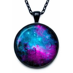 NEBULA Pendant Nebula Necklace Universe Jewelry galaxy necklace... ($14) ❤ liked on Polyvore featuring jewelry, pendants, chains jewelry, cosmic jewelry, charm pendant, chain pendants and pendant jewelry