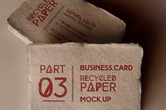 This completes our series of recycled psd business card mock-up template with two new distinct views. Easily place any designs with...