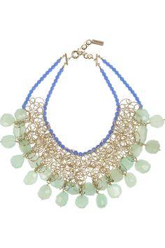 Etro|+ V&A gold-tone agate necklace|NET-A-PORTER.COM