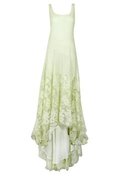 Cream geometrical and floral embroidery organza dress available only at Pernia's Pop-Up Shop.