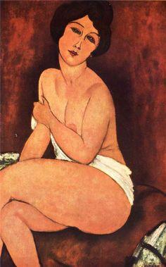 Amedeo Modigliani. Gran desnudo sentado. Óleo sobre lienzo. Colección privada. WikiPaintings.org - the encyclopedia of painting