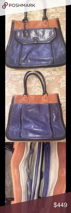 75a26fe82b Tory Burch tote leather EUC RARE handbag purse Leather handbag with  magnetic closure Tory Burch Bags