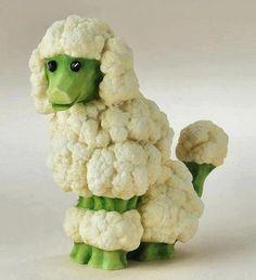 'ba baaaah,' says the lil cauliflower sheep.
