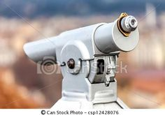 Stock Photo - Coin Telescope - stock image, images, royalty free photo, stock photos, stock photograph, stock photographs, picture, pictures, graphic, graphics