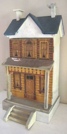 Victorian doll house with architectural detailing.   ......Rick Maccione-Dollhouse Builder www.dollhousemansions.com