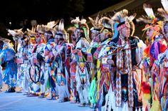 Grass Dancers awaiting the judges results.  GOOD LUCK guys    www.hanblechiadesigns.com www.hanblechiadesigns.com.au #hanblechiadesigns #nativeamericanbandanas #womenstshirts #womensfashion #nativeamerican #mensfashion #menstshirts