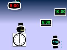 """Shoot the correct digital clock time when it matches your analog clock to earn a high score in """"Clock Shoot."""""""