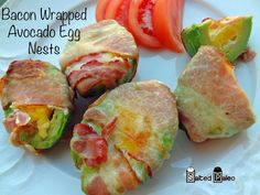 Bacon Wrapped Avocado Egg Nests (paleo, scd) #SaltedPaleo