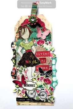 Julie Nutting doll stamp from Prima