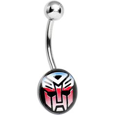 Licensed Autobot Transformer Belly Ring $9.99 #piercing #bellyring #bodycandy #transformers #love #bodymods #bodymodification