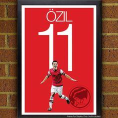 Mesut Özil 11 Arsenal Football   Soccer Poster print by Graphics17