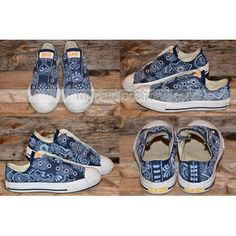 RESERVED for STEVE C Floral/Paisley Painted Canvas Shoes,Low-top Painted Canvas Shoes