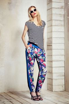 Cool Print Combinations for Summer: Stripes and floral prints