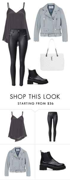 """""""Untitled #245"""" by itsamandarose on Polyvore featuring Alice + Olivia, Acne Studios and Yves Saint Laurent"""