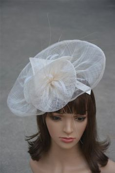 Ivory A134 Ladies Sinamay Feather Wedding Bridal Cocktail Hat Fascinator Party | eBay