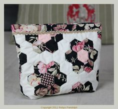 Grandmother's Garden Snap Make-Up Bag by Robyn Pandolph St Remy de Provence