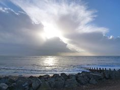 Dramatic sky over the sea, Worthing.  © Walden Design